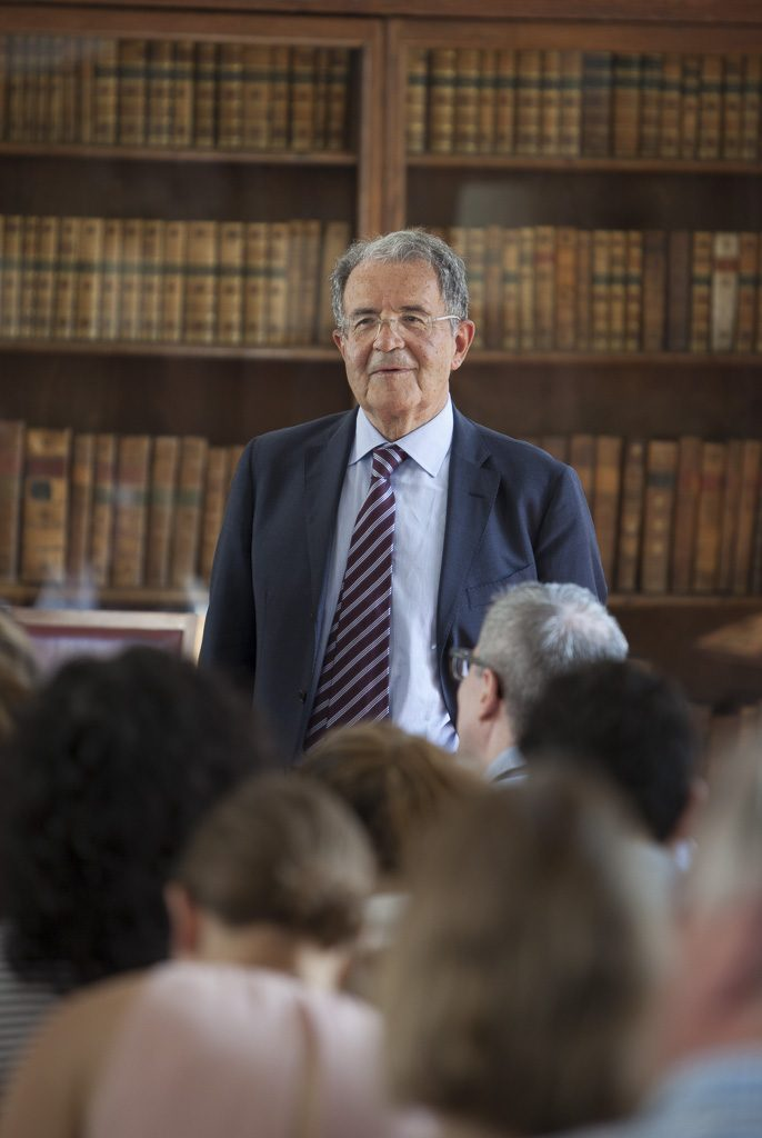 Romano Prodi at Pembroke College, Cambridge